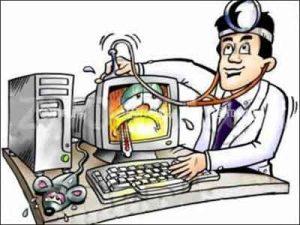 máy tính hỏng