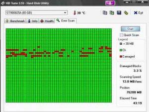 Dịch vụ cứu dữ liệu ổ cứng bị bad sector