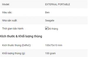 Giới thiệu ổ cứng di động HDD Seagate External Portable